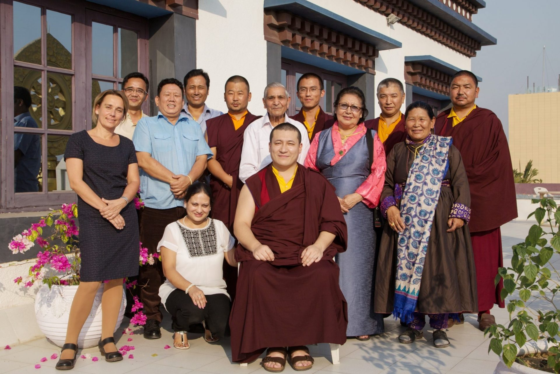 SABA group picture after a meeting at the Karmapa International Buddhist Institute, New Delhi.  Photo / Magda Jungowska