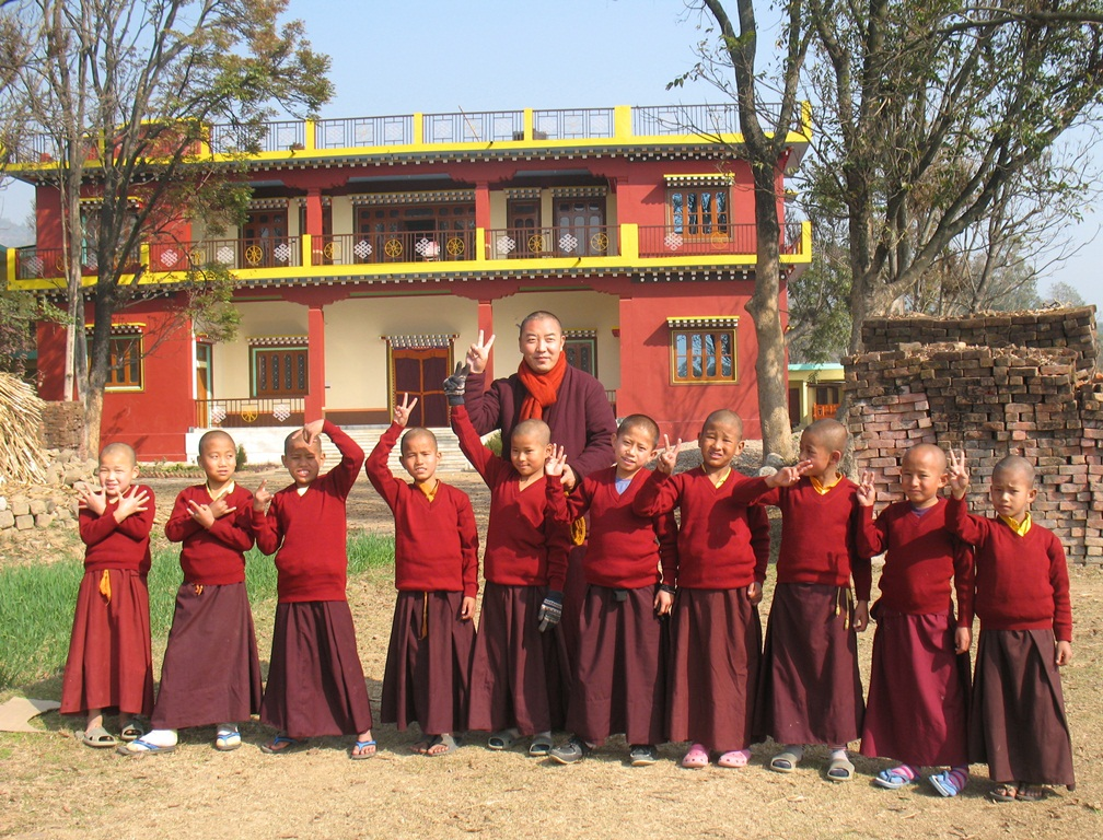 Khenpo Rigzin with some of the younger students