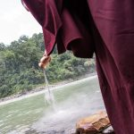 Pouring of the sand mandala into the Teesta River