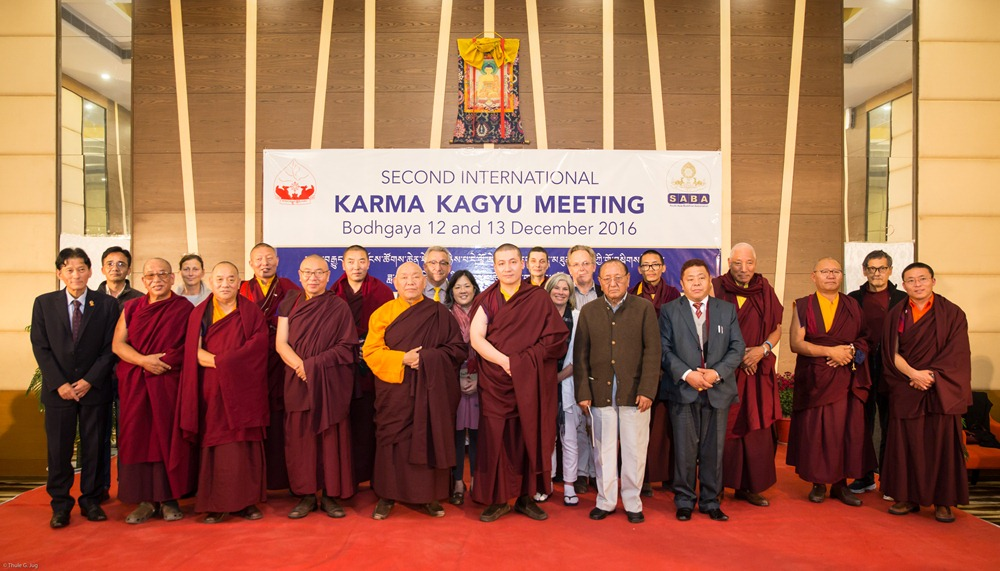 Group picture with Karmapa and the invited speakers