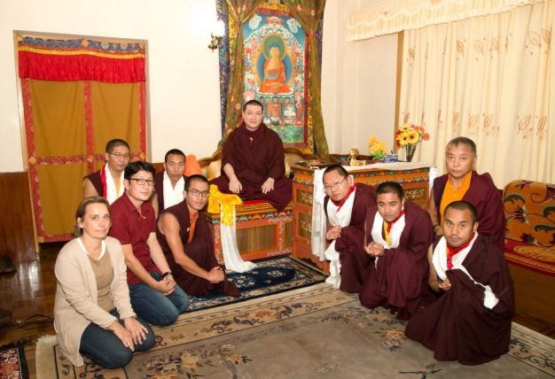 The KCE Board left to right: Diane Brodkorb, Tsultrim Jinpa, Dr. Tsewang Gyatso, Khenpo Wangdu, Tsultrim Dargay, Drimay Dawa, Tsultrim Sonam, Dawa Waiba and Tsultrim Drakpa
